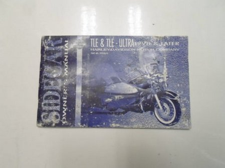 (1998 Harley Davidson TLE & TLE Ultra Sidecar Owners Manual FACTORY WATER DAMAGED)