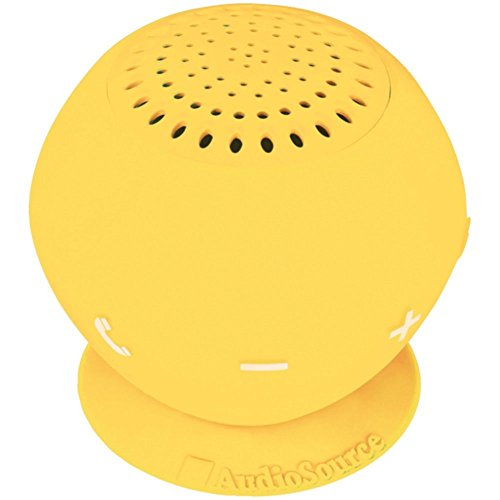 AUDIOSOURCE SP2YEL Sound pOp 2(TM) Water-Resistant Bluetooth(R) Speaker (Yellow) Electronic Accessories