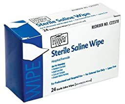Wipes First Aid PDI Hygea Saline 3x4\