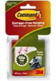 Command 17024VP Poster Hanging Strips Value-Pack, Small, White, Pack of 48