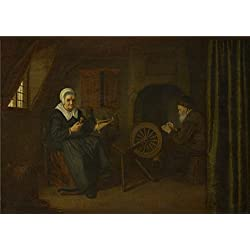 Oil Painting 'Abraham De Pape Tobit And Anna ' Printing On High Quality Polyster Canvas , 20 X 28 Inch / 51 X 72 Cm ,the Best Laundry Room Gallery Art And Home Artwork And Gifts Is This High Definition Art Decorative Canvas Prints