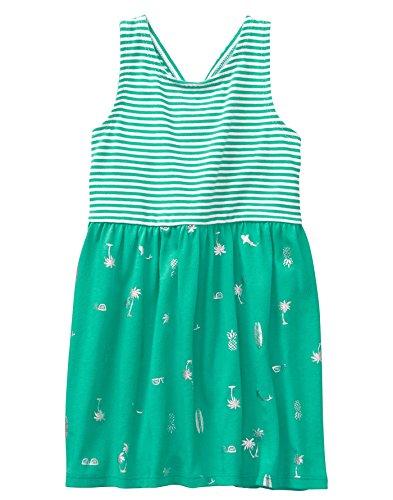 Dress Gymboree Girls - Gymboree Girls' Toddler Sleveless Cross Back Dress, Bright Teal, 5T