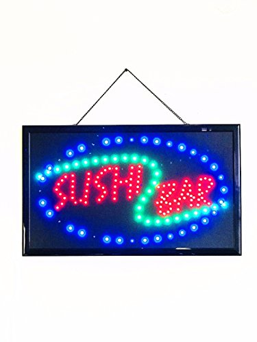 UPSUN Bright LED Neon Light Animated Motion Open Sign for Japanese Food Restaurant Store Shop ()