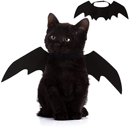 Nigua Pet Cat Bat Wings for Halloween, Cosplay Bat Wing Costume Decoration for Puppy Dog Cat 19