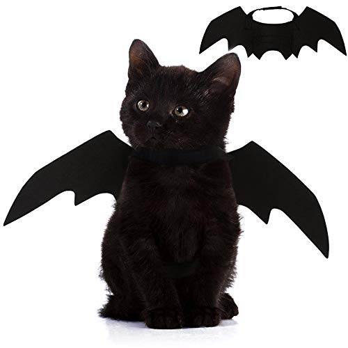 Best Puppy Halloween Costumes (Nigua Pet Cat Bat Wings for Halloween, Cosplay Bat Wing Costume Decoration for Puppy Dog)