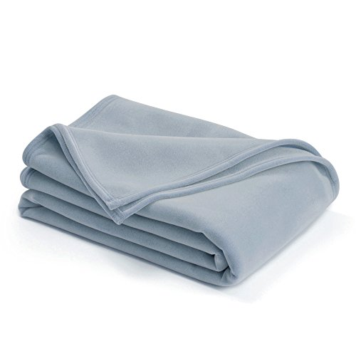 The Original Vellux Blanket - Full/Queen, Soft, Warm, Insulated, Pet-Friendly, Home Bed & Sofa - Wedgewood -