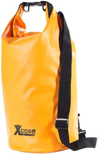 Xcase Sack wasserdicht: Wasserdichter Packsack 16 Liter, blau (Wasserfester Sack) Orange