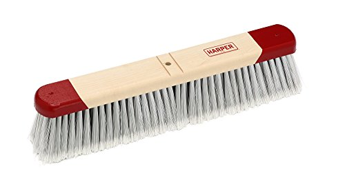 Harper Brush 221812 Broom Head, Polystyrene Fiber, Indoor, Smooth Surface, Maple, 18'' (Pack of 6) by Harper Brush