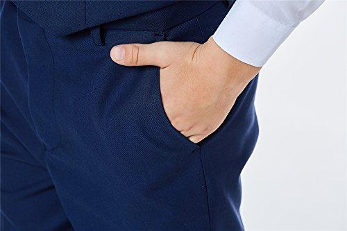 Boys Classic Formal Dress Suits Set 5 Piece Slim Fit Dresswear Suit (8, Navy Blue 2) by WQI.HAN (Image #6)