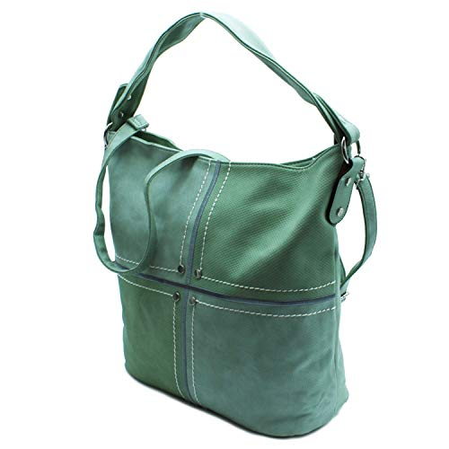 De h005 2 Para 16 Sr Mano Shopper Verde Mujer 34 Bolsos Misemiya Bolso 39 q6U8XnB