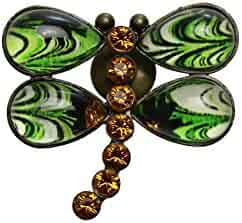 TAMARUSAN Brooch Freshwater Pearl Semi Green Handmade Unisex