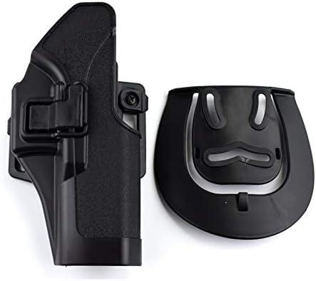 XFC-Fundas Usuario de Mano Izquierda/Derecha Airsoft Combat Hunting Holster de Pistola for Glock 17 19 22 23 31 32 Cinturón táctico Militar Gun Hoslter (Color : Black Right Hand)