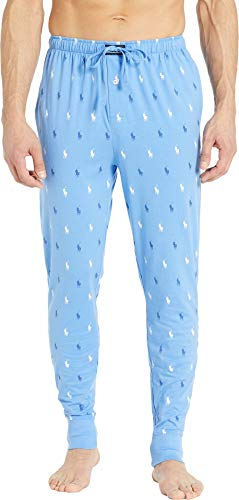 Ralph Lauren White Pants - Polo Ralph Lauren Men's All Over Pony Player Knit Jogger Harbour Island Blue/Bright Navy/White All Over Pony Print Large