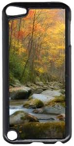 Autumn Fall Colors Mountain Stream Black Plastic Decorative iPod iTouch 5th Generation Case