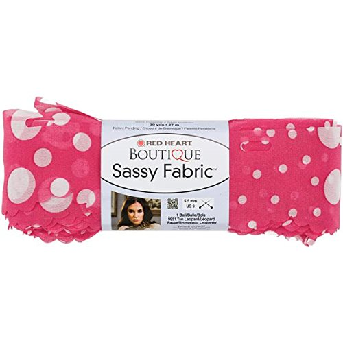 Red Heart Boutique Sassy Fabric Yarn-Pink Dot