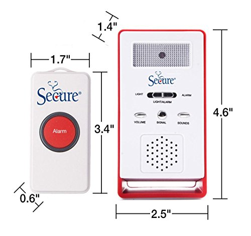 Secure SWCB-1 Wireless Remote Nurse Alert System - Patient Call Button and Caregiver Pager - 500+ Ft Range … (3 Transmitter Set) by Secure (Image #1)