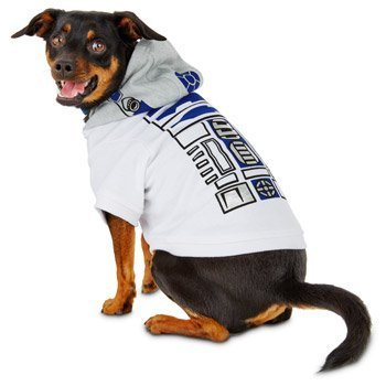 Petco STAR WARS R2-D2 Dog Hoodie, Large, White by Petco