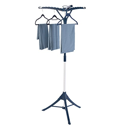 Drynatural Drying Rack for Laundry Folding Tripod Laundry Rack Portable Hanging Rack with Capacity of 36 Garments
