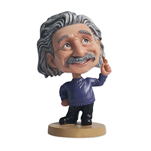 MING PEOPLE Polyresin Einstein Bobble Head for Collection,Sovenior, Car Dashboard