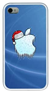 cute iphone 4 cases Christmas Apple LOGO TPU White for Apple iPhone 4/4S