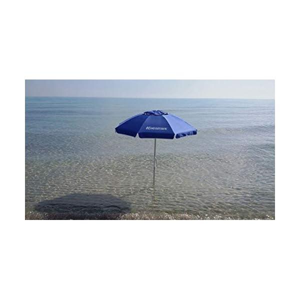 """Ombrellone da Spiaggia Antivento ,resistente al vento con il suo sistema """"Brevettato"""" di facile ancoraggio al suolo unico nel suo genere 2 spesavip"""