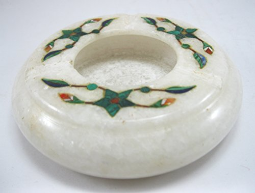 Ashtray Malachite Stone 3.5
