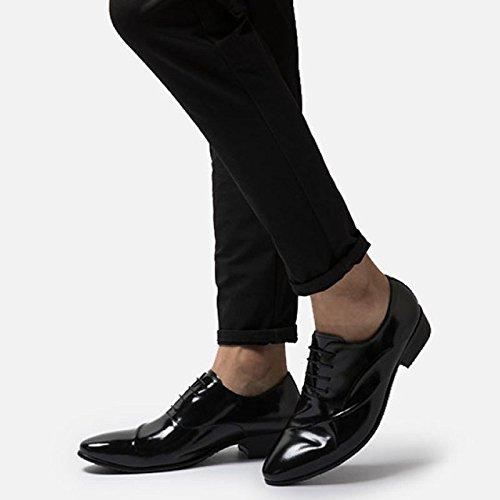 Cuir Soft à Lacets Hommes Noir Chaussures pour Derby MHSXN Chaussures Chaussures Classique Black Emplois en Robe Bottom BYX7w6Bqx