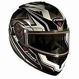 Zoan Optimus Eclipse White Modular Flip Up Motorcycle Riding Helmet 2X-Large