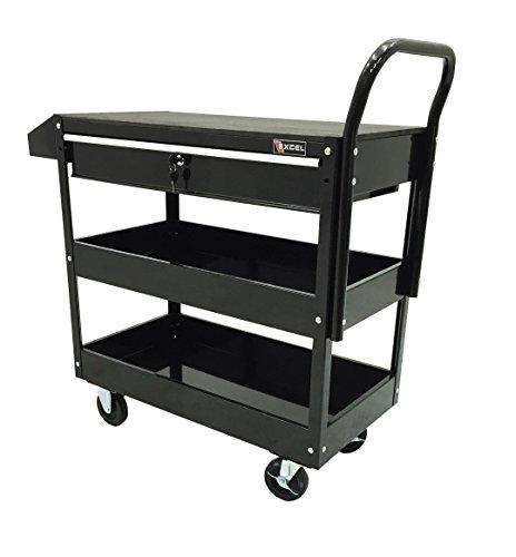 Excel TC301C-Black 36-Inch Steel Tool Cart, Black