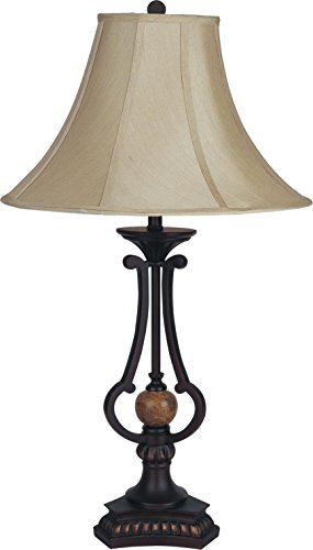 Milton Greens Stars A31118U Saul Traditional Table Lamp, 29-Inch, Brown