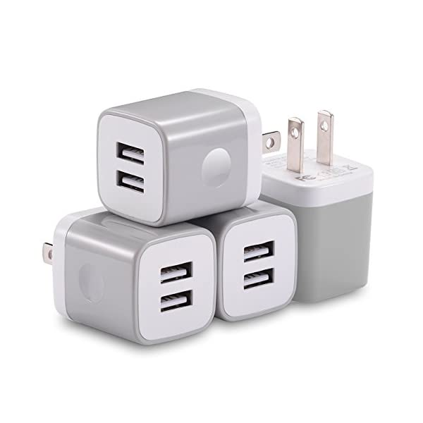 USB Wall Charger, X-EDITION 10.5W/2.1A Universal 2-Port USB Wall Plug Power Adapter for iPhone X, 8/8 Plus 7/7 Plus, 6/6 Plus 6S, iPad, Samsung Galaxy S5 S6 S7 Edge, Nexus, LG, HTC