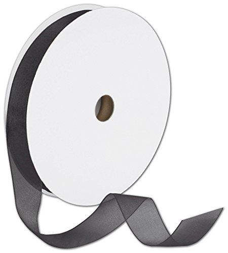 Sheer Organdy Black Ribbon, 7/8