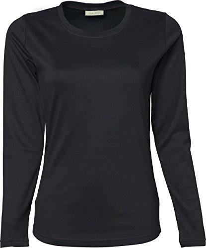 Ladies Longsleeve Interlock–Camiseta gris oscuro