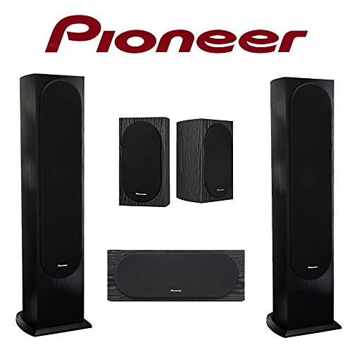 Pioneer SP-FS52 Floorstanding Speakers with an SP-C22 Center Channel and SP-BS22-LR Surround Speakers