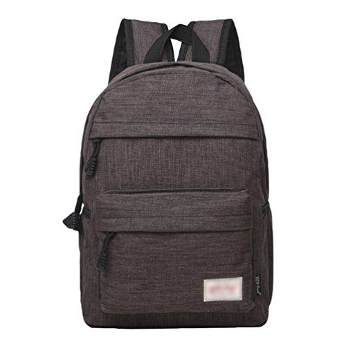 ZKOO Mochila de los Estudiantes Mujeres Hombres Mochila de Viaje Mochilas de Portátil de Lona Backpack Daypacks al Aire Libre Ocio Gris Oscuro