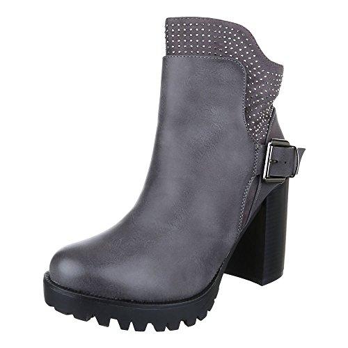 Schlupfstiefel Grey Design Ital Ital Design Damen Damen nqYXvw