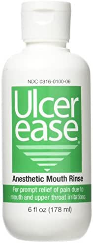 Ulcer Ease Anesthetic Mouth Rinse, 6 oz Bottle
