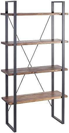 Indhouse - Estantería Loft Estilo Industrial para decoración Vintage en Metal y Madera Ray: Amazon.es: Hogar