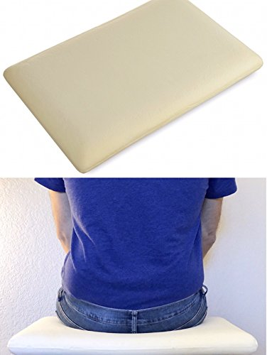 Extra Large Memory Foam Seat Cushion for car, office chair, truck driving or wheelchair. Lumbar support for back pain relief