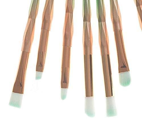 blu Set Pz Nylon Manico Strumento Bellezza Trucco Da scpink 10 Verde Plastica Scuro Viola In Combinazione Di Pennello Gradiente Trucco 7wv0BU