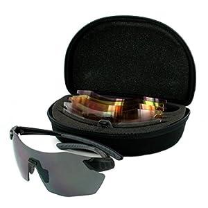 Evolution Eyewear Archery Hunting Clay Pigeon Target Shooting Sunglasses 4 Lens CHAMELEON Model