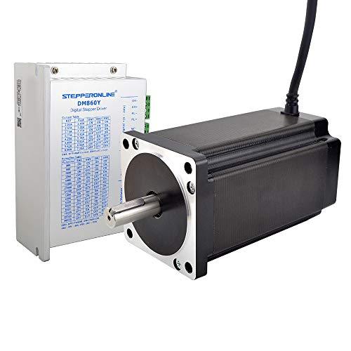 STEPPERONLINE 1 eje Motor paso a paso CNC Kit 12 Nm 6 A Nema 34 Motor paso a paso & Motor de paso controlador 2.4 – 7,2 A AC18 – 80 V/DC