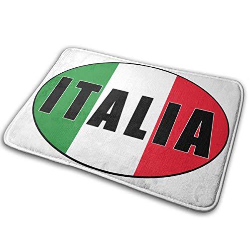 (KLQ Italia Italy Italian Flag Non-Slip Doormat Bath Floor Mat Rug Bathroom Rug Carpet Welcome Indoor Door Mats Treated Monogram Doormat Yoga Cushion Pad)