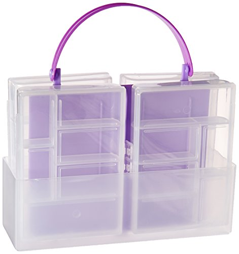 Darice 4.75 in x 3.25 in Plastic Storage Containers with Handle