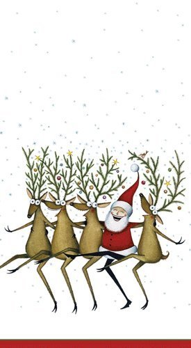 (Hand Towels Christmas Decor Christmas Party Paper Guest Towels Santa Kickette Pk 30)