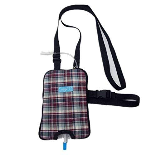 Hcwlxjy Urinary Incontinence Drain Urine Elderly Catheter Bag Pouches Square Urine Bag Fistula-Making Urine Bag Elderly Portable Messenger Bag 1000ml