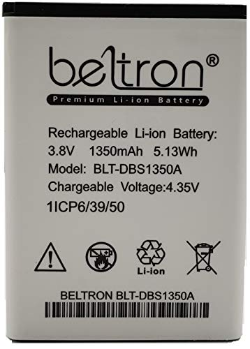 New 1350 mAh DBS-1350A BELTRON Replacement Battery for Consumer Cellular Doro 7050 Flip Phone