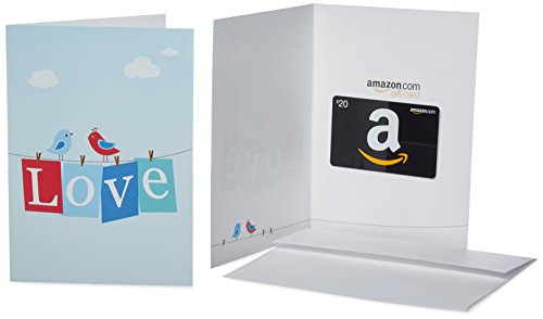 UPC 841710134254, Amazon.com $20 Gift Card in a Greeting Card (Love Design)