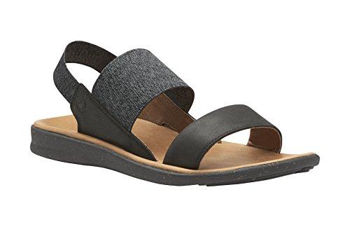 Superfeet Dana Women's Closed Back Sandal, Black/Black, Leather/Stretch Gore, Women's 9 (Gore Leather Sandals)
