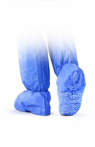Medline NON27143XL Non-Skid Multi-Layer Boot Covers, Latex Free, Extra Large, Blue (Pack of 150)